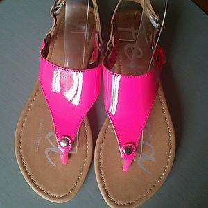 Shoes - New Ferrera Thong Hot Pink Sandals